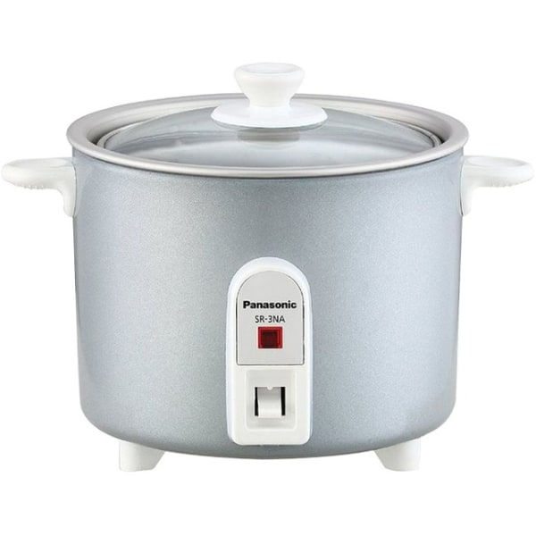Mini-Rice Cooker, Non-Stick Pan w/ Glass Lid  1.5 cup