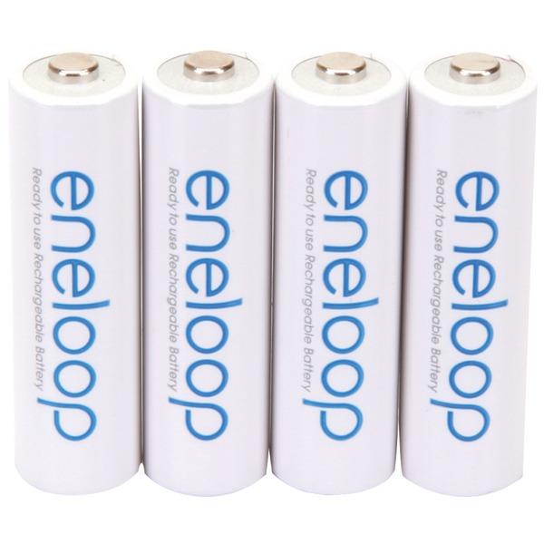 PANASONIC BK-3MCCA4BA eneloop Rechargeable Batteries (AA; 4 pk)