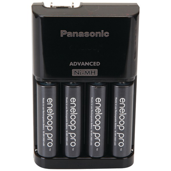 PANASONIC K-KJ17KHCA4A 4-Position Charger with AA eneloop XX Batteries, 4 pk