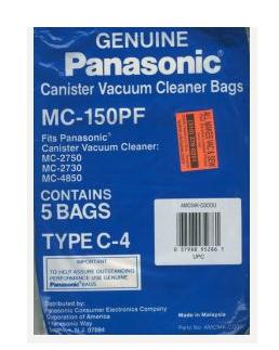 PANASONIC MC150PF VACUUM BAG 5 PACK FOR MCV2750,2730,4850