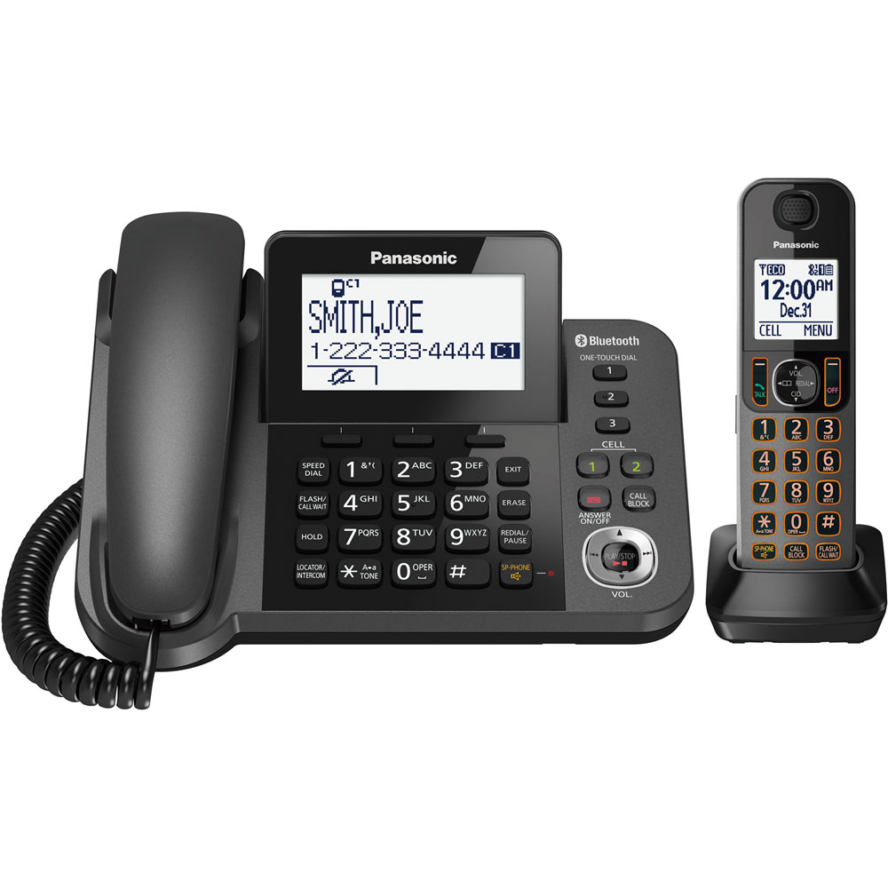 Link2Cell corded cordless 1-Handset 1-Line digital cordless phone