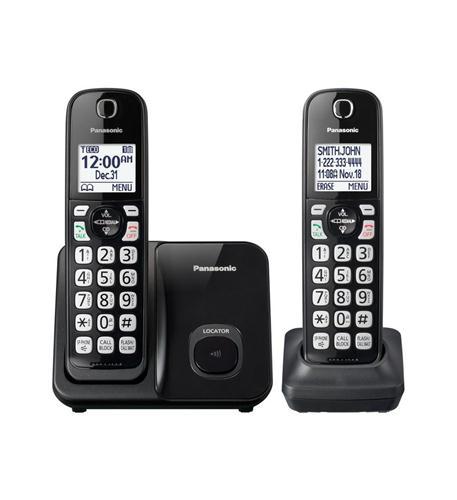 "Dect 6.0 Plus,2HS,Talking CID,150 Call Block,1.6""white LCD,Handset Locat"