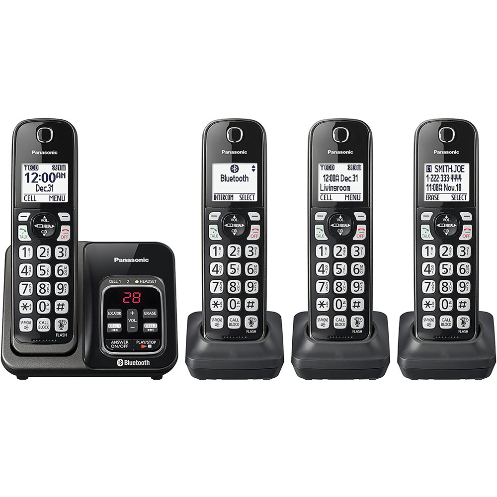 "Dect 6.0 Plus,4HS,Talking CID,TAD,150 Call Block,1.6""White LCD,Hads.Loca"
