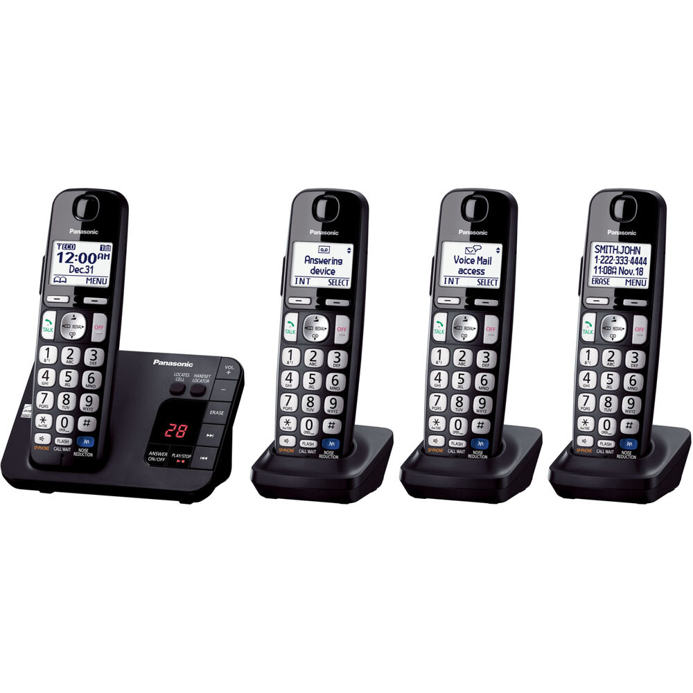 Expandable Digital Cordless Answering System w/ 4 Handsets