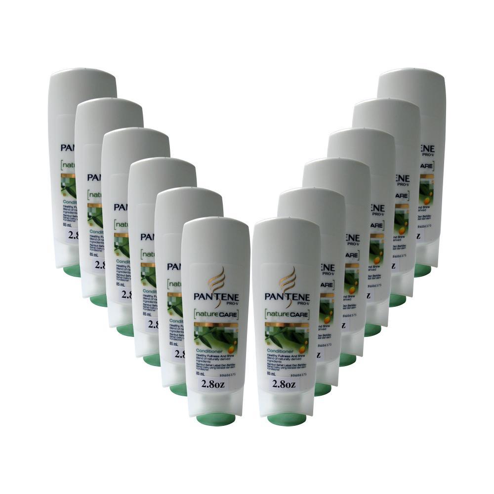 PANTENE PRO-V naturecare Conditioner Healthy Fullness And Shine 85mL (2.8oz.) 24-Bottle Bundle