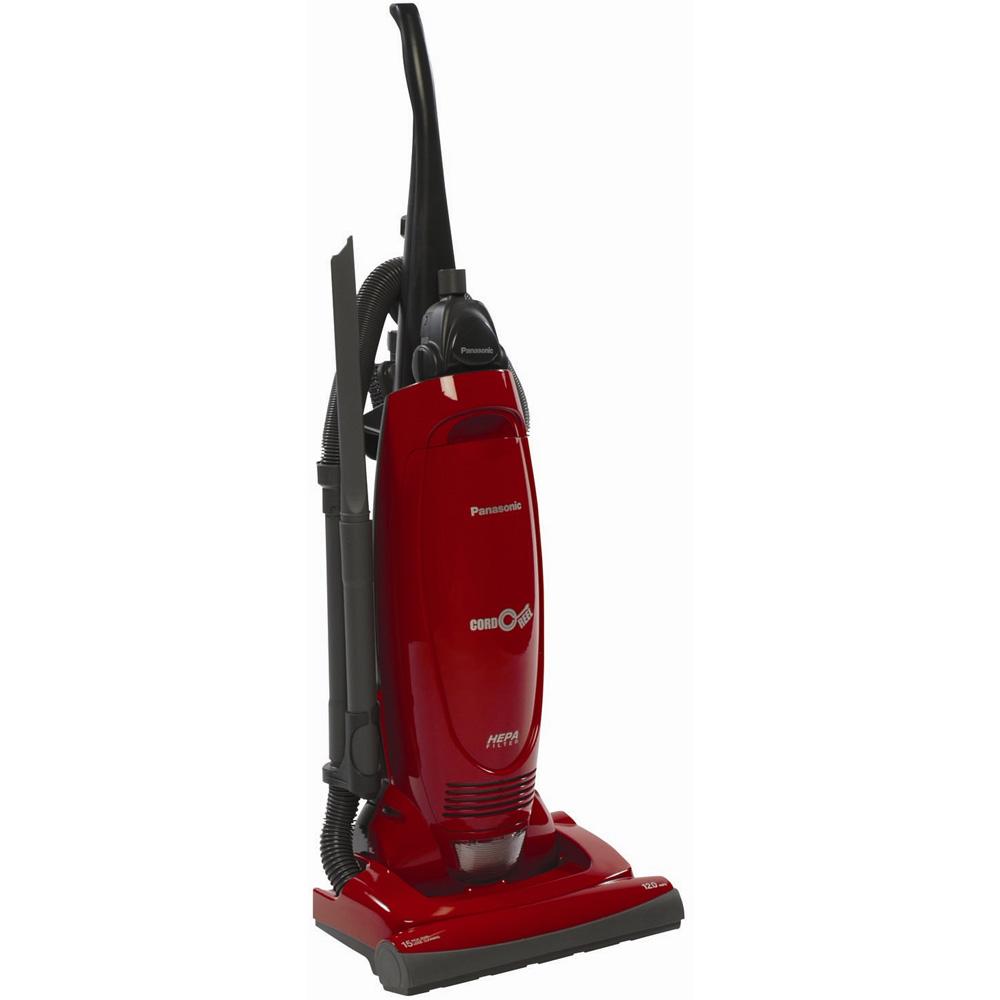 Panasonic MC-UG471 Bag Upright Vacuum Cleaner w/Air Turbine, Pepper Red