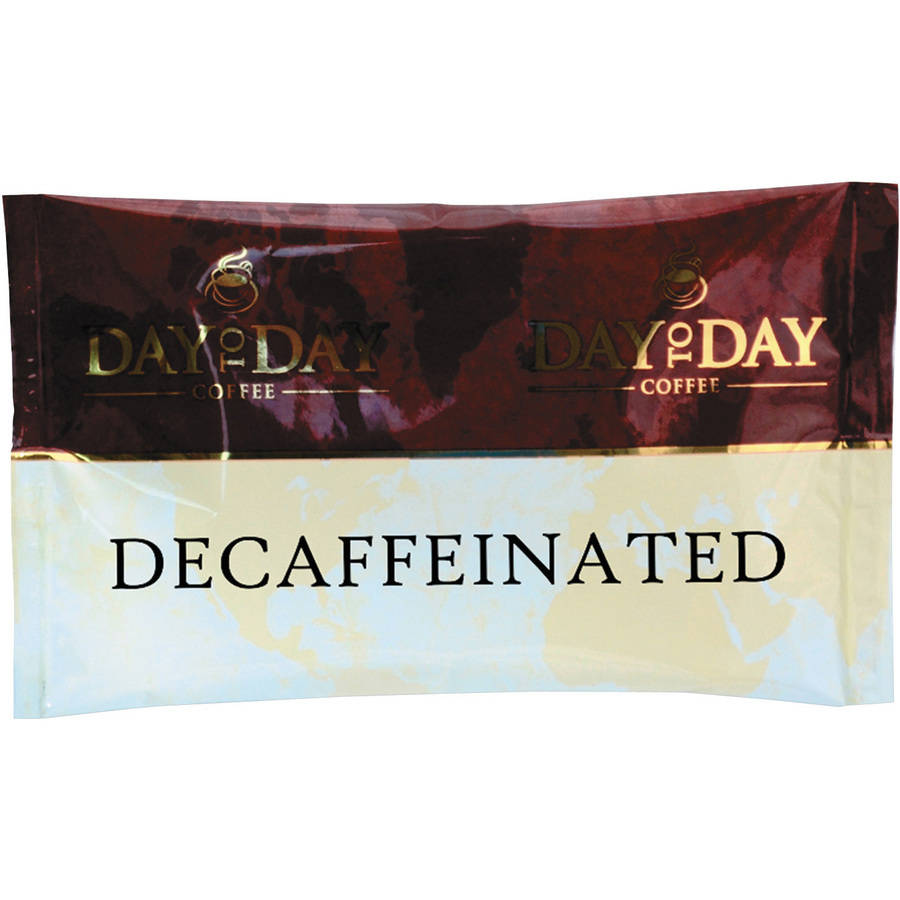 100% Pure Coffee, Decaffeinated, 1.5 oz Pack, 42 Packs/Carton