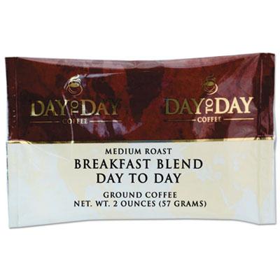 100% Pure Coffee, Breakfast Blend, 2 oz Pack, 42/Carton