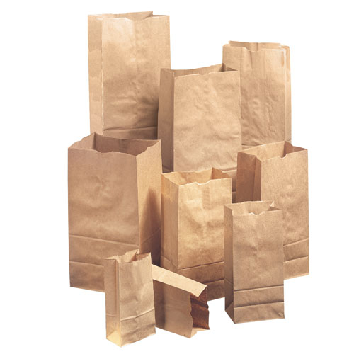 #25 Paper Grocery, 57lb Kraft, Extra Heavy-Duty 8 1/4x6 1/8 x15 7/8, 500 bags