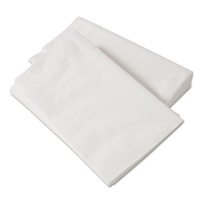 1/8-Fold Dinner Napkins, 2-Ply, 15 x 17, White, 300/Pack, 10 Packs/Carton
