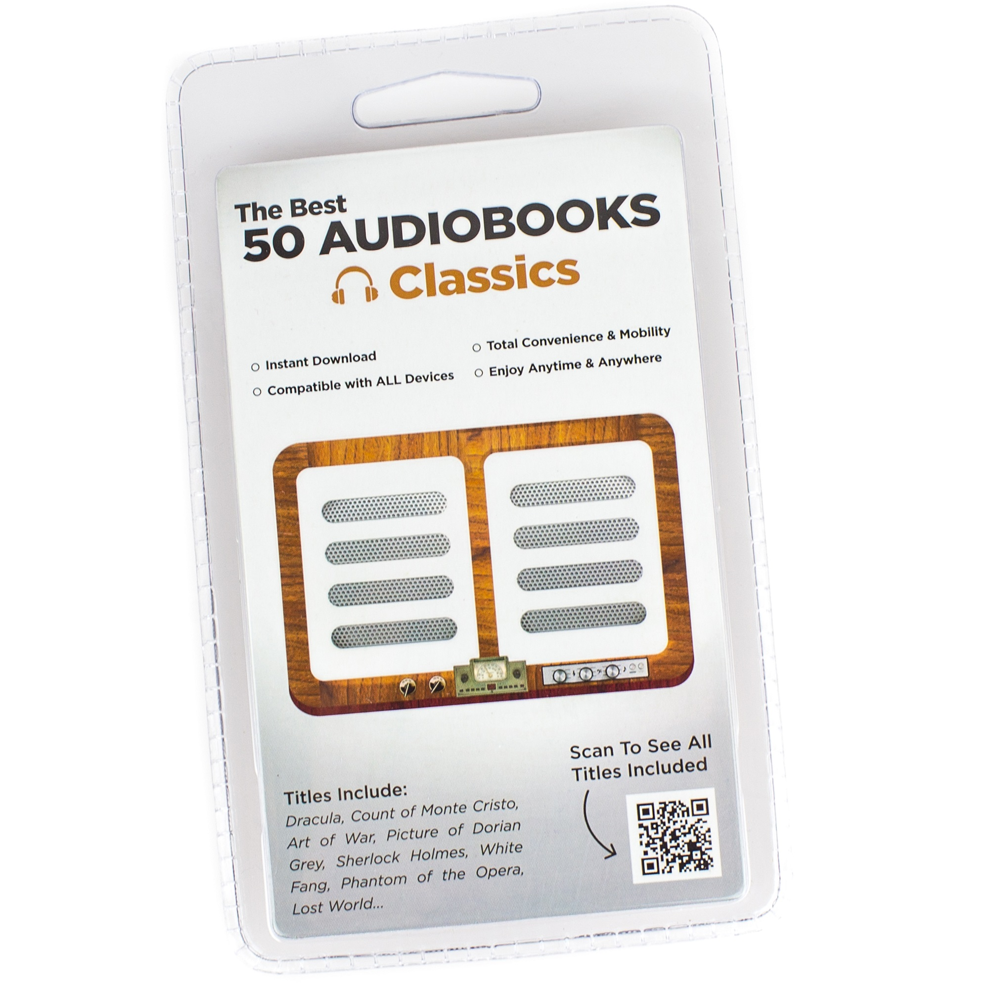 INSTANT LIBRARIES CLAUIL011 50 CLASSIC AUDIO BOOKS FROM