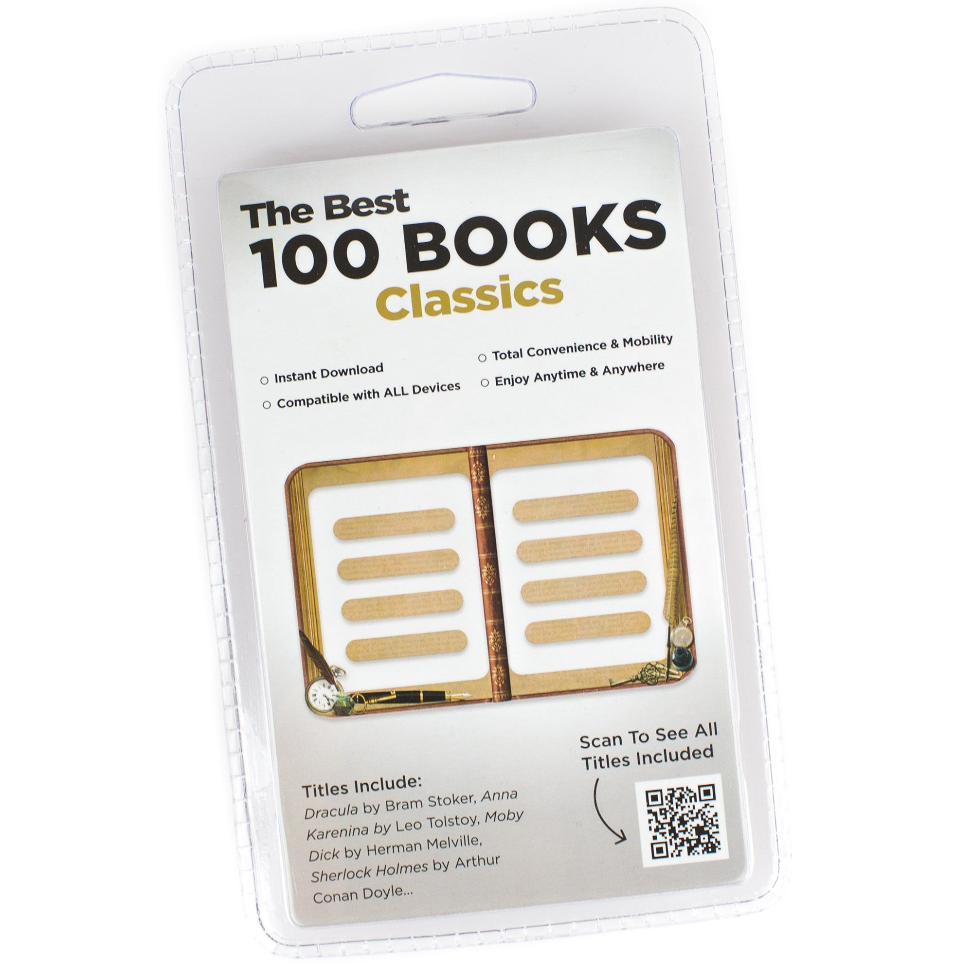 INSTANT LIBRARIES CLIL00033 100 CLASSIC  BOOKS ALL FROM NEW