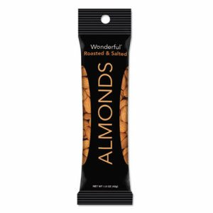 Wonderful Almonds, Dry Roasted & Salted, 1.5 oz, 12/Box