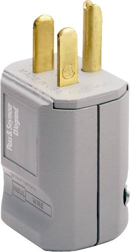 HOSPITAL GRADE PLUG 3 WIRE MALE 15 AMPS