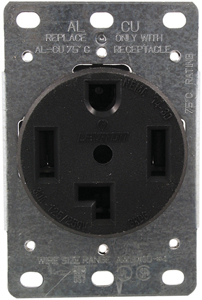 No Logo 278 Single-Flush Dryer Receptacle (4 wire)