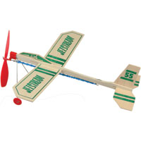 Guillow's Jetstream Rubber Band Airplane With Wheels, Balsa Wood