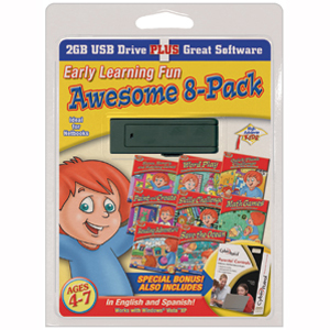 USB High Achievers Early Learning Fun, 8-Pack