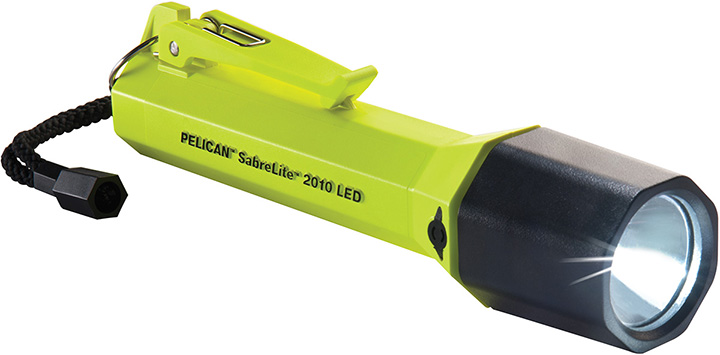 Pelican 2010-014-245 Sabrelite LED Flashlight (Yellow) Carded