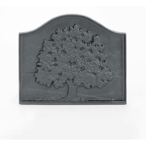 Woodfield Small Oak Cast Iron Fireback, Current Year Date