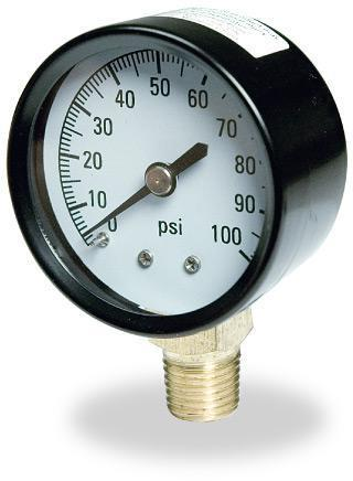 TC2104P2 100PSI PRESSURE GAUGE