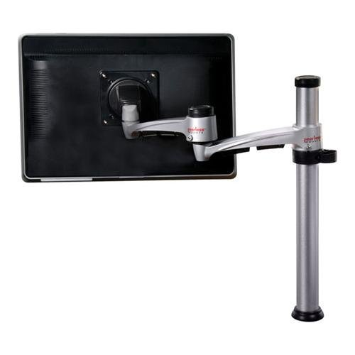 "Desktop Pivot Mount with Height-Adjustable Pole for 15"" to 24"" Monitors"