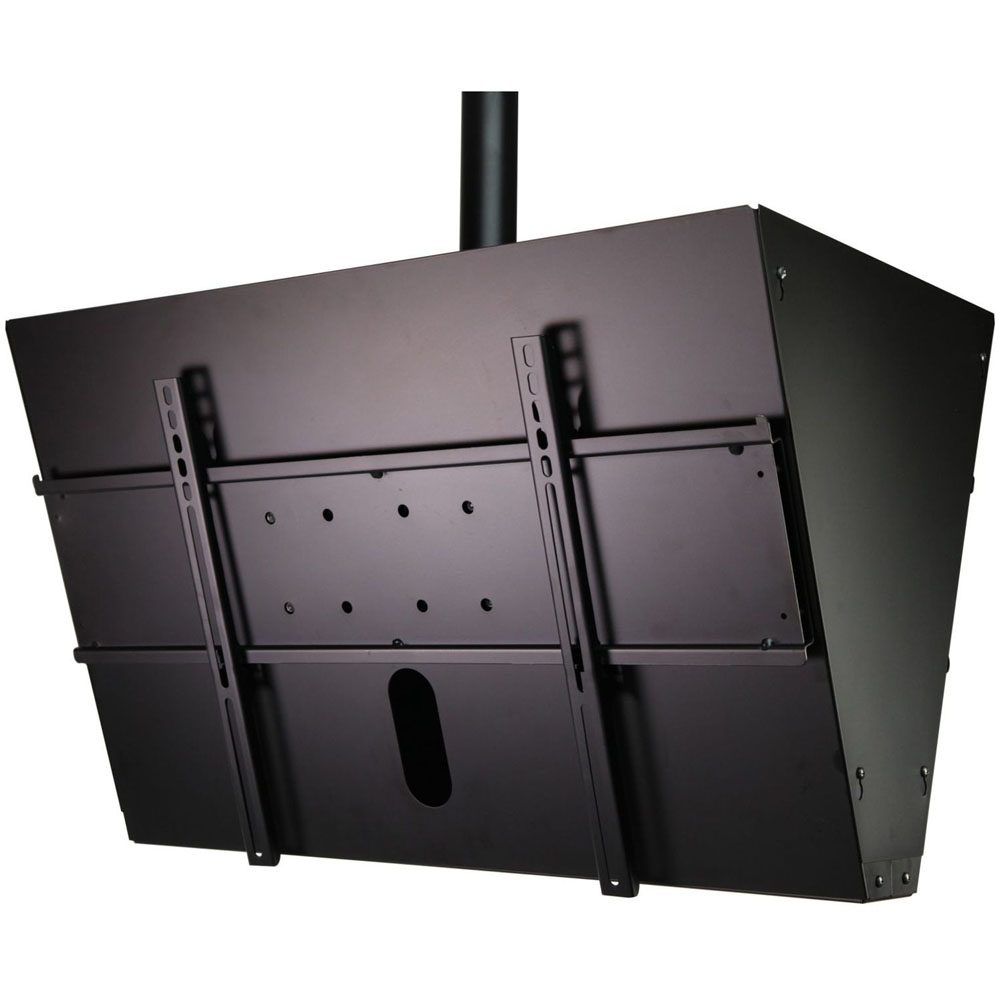 "Back to Back Ceiling Mount System with Media Storage for 40""-65"" Display"