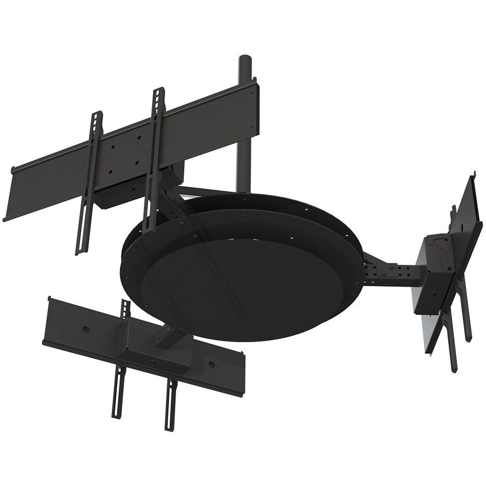 Tri Mount - Holds three displays to form a triangle, with telescoping ar
