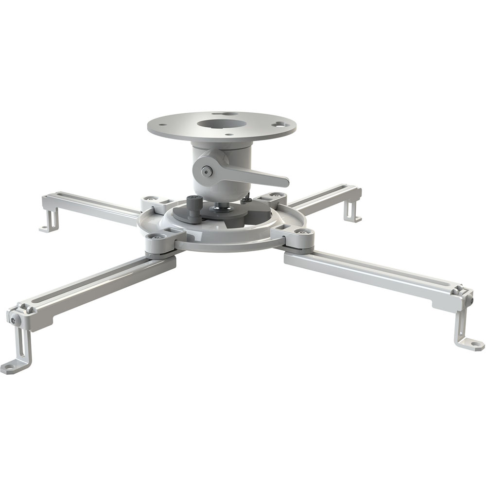 PJF3 UNIVERSAL TOOL-LESS PROJECTOR MOUNT - WHITE