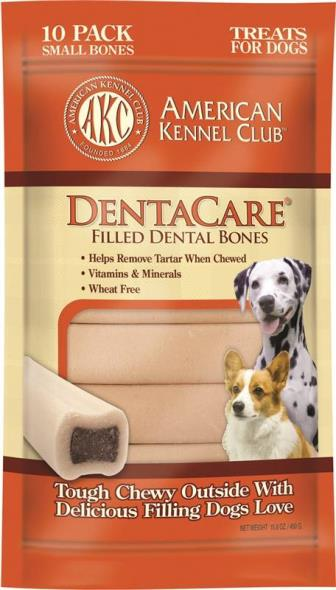 Pet Brands AKCDEN0031 Dentacare Dog Dental Treats, Filled Bone - 10 Pack, 15.8 Oz