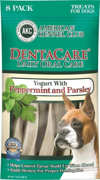 Pet Brands AKCDEN0003 Dentacare Dog Dental Treats, Yogurt-Peppermint-Parsley, 7.3 Oz