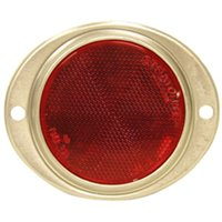 Peterson V472R 2-Hole Automatic Oval Reflector, 3 in Dia, Acrylic Lens/Aluminum Housing, Red