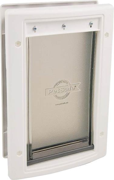 Freedom HPA11-10967 Pet Door, 8-1/4 in W X 12-3/4 in D X 1/16 - 1-3/4 in T, 1 - 40 lb Pet, Plastic