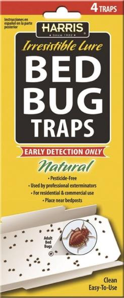 BED BUG TRAP W/LURE 4PK