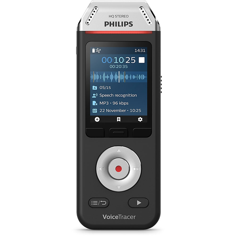 Voice Tracer DVT2810 Digital Recorder, 8 GB, Black