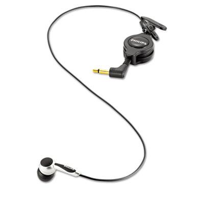 Digital Telephone Pickup Microphone, 2 Ear Cushions, Black