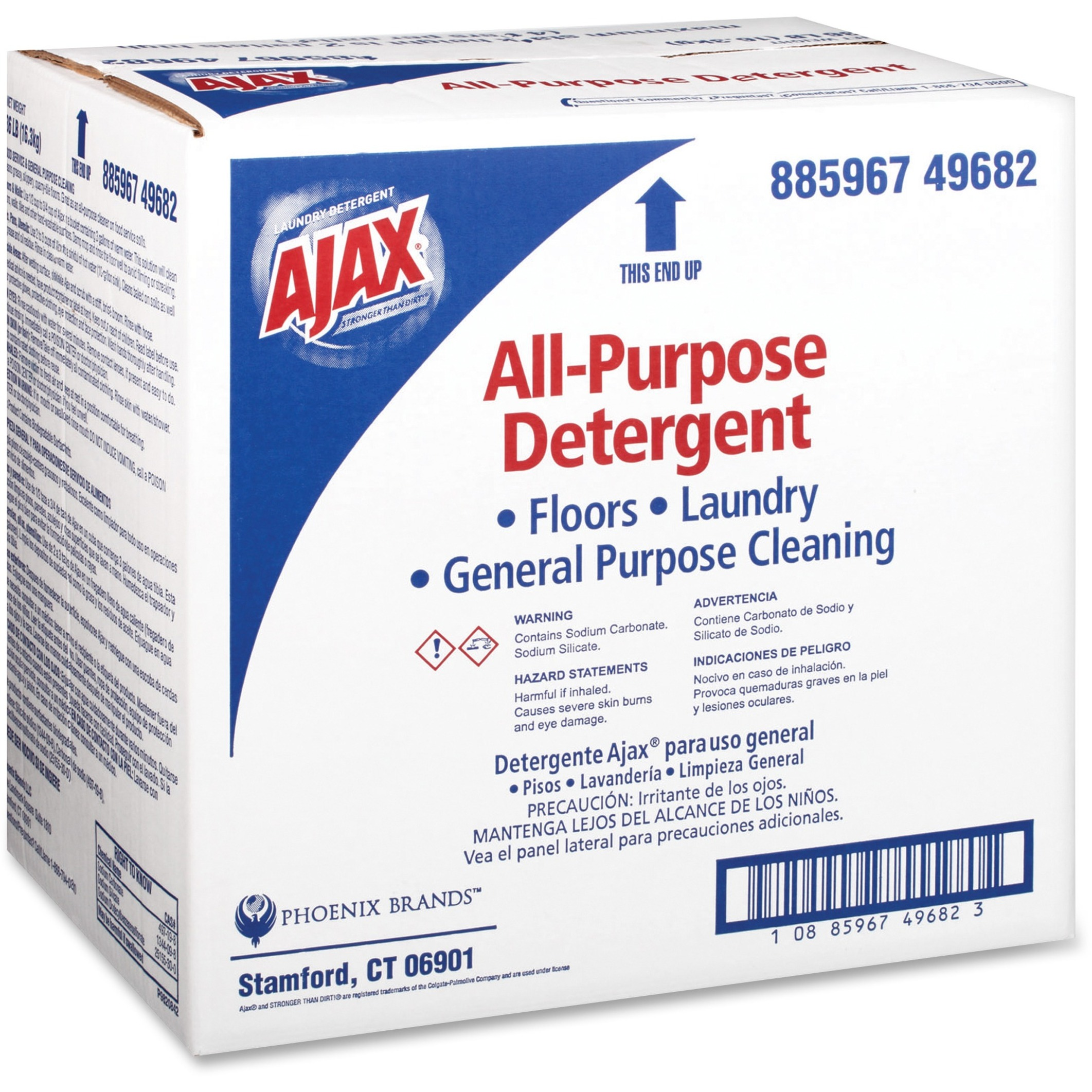 Ajax Low-Foam All-Purpose Laundry Detergent, 36lb Box