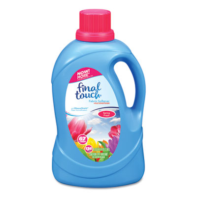Scented Fabric Softener, Spring Fresh, 134 oz Bottle, 4/Carton