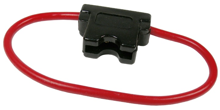 "12 GAUGE, 20 AMP WATERPROOF ATC & ATO TYPE FUSE HOLDER WITH 7"" WIRE LOOP - BULK"
