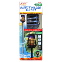 BUG ZAPPER W/LED FLAME TORCH