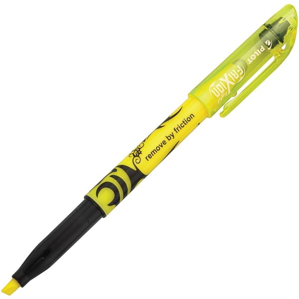 Frixion Lite Erasable Highlighter, Yellow Ink, Chisel, Dozen