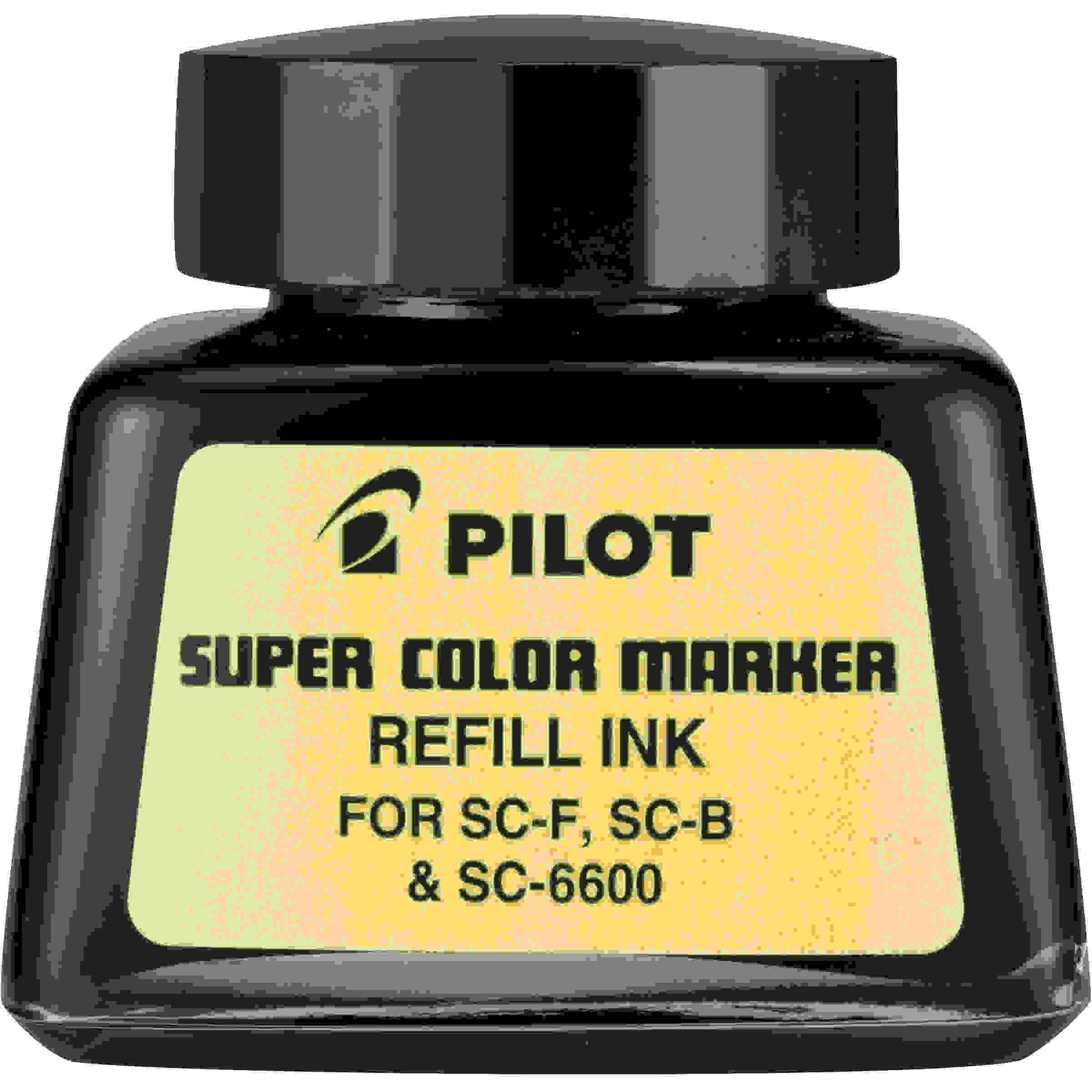Pilot Pen 43500 Permanent Marker Refills, With Ink Dropper, Black