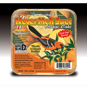Never Melt Suet Orange 12 oz