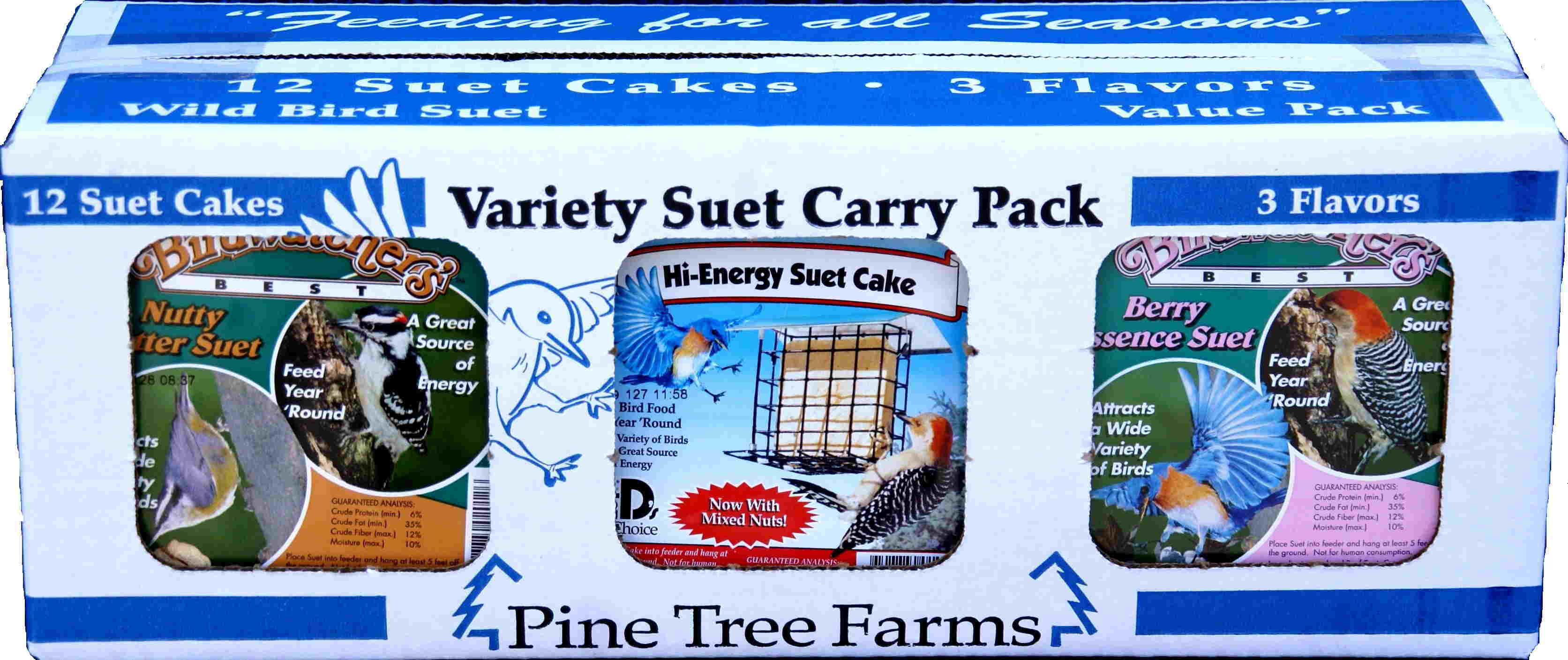 Variety Suet Pack Nutty Butter, Hi-Energy, Berry Essence