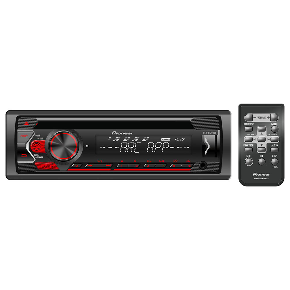 Pioneer Single Din CD PlayerAux Input USB 1xPreOutAndroid Playback