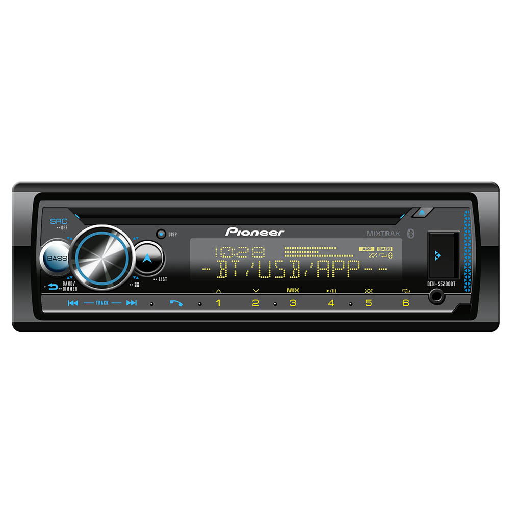 Pioneer CD Player w/USBAuxVar.Clr DisplayBT Spotify3xPreOut