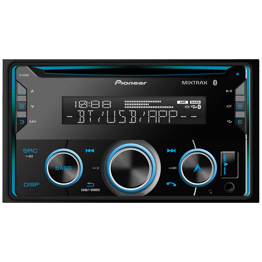 Pioneer D.Din CD Player w/BTAuxUSB2xPreOutSpotify Pandora