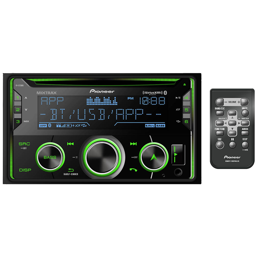Pioneer D.Din CD Player w/BTAuxUSB3xPreOutSpotify PandoraSAT RDY