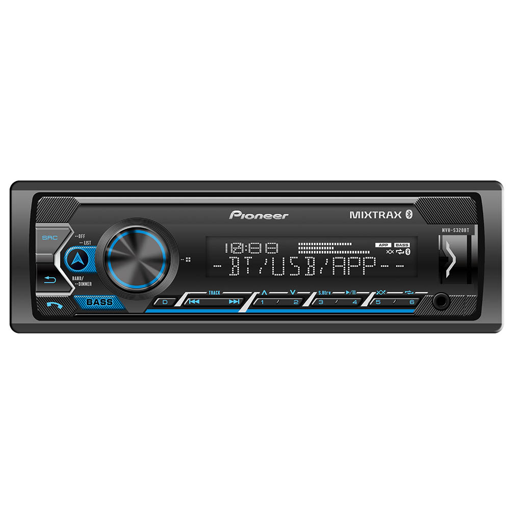 Pioneer Mechless Radio with BluetoothUSBAux.IN2xPreOut