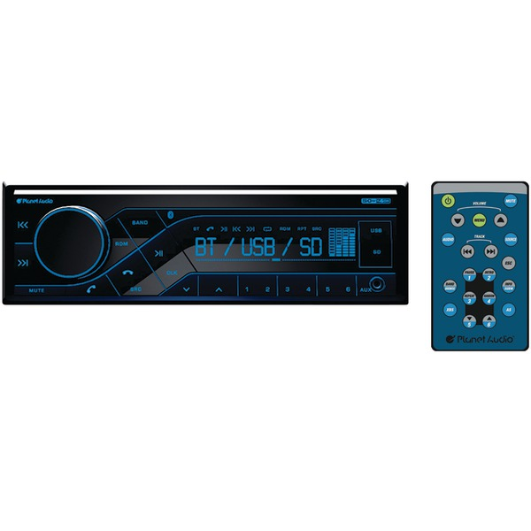 Planet Audio P370MB Single-DIN In-Dash Mechless AM/FM Receiver with Bluetooth