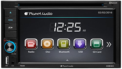 PLANET AUDIO P9628B CAR DOUBLE DIN 6.2 INCH DVD PLAYER TOUCH